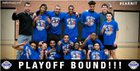 North Mesquite Stallions Boys Varsity Basketball Winter 17-18 team photo.