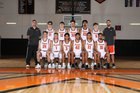 Kennewick Lions Boys Varsity Basketball Winter 17-18 team photo.