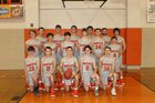 Walnut Ridge Bobcats Boys Varsity Basketball Winter 17-18 team photo.