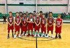 Hermleigh Cardinals Boys Varsity Basketball Winter 17-18 team photo.