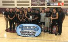 Woodcreek Timberwolves Boys Varsity Basketball Winter 17-18 team photo.