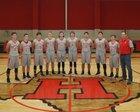 Harmony Eagles Boys Varsity Basketball Winter 17-18 team photo.