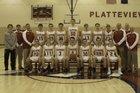 Platteview Trojans Boys Varsity Basketball Winter 17-18 team photo.