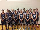 Kingwood Mustangs Boys Varsity Basketball Winter 17-18 team photo.
