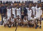 Harlan Falcons Boys Varsity Basketball Winter 17-18 team photo.