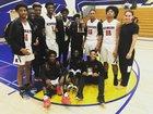 Kennedy Eagles Boys Varsity Basketball Winter 17-18 team photo.