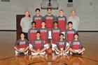 Cupertino Pioneers Boys Varsity Basketball Winter 17-18 team photo.