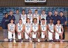 Rogers Rams Boys Varsity Basketball Winter 17-18 team photo.