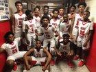 Hoke County Bucks Boys Varsity Basketball Winter 17-18 team photo.