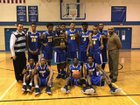 Douglass Tigers Boys Varsity Basketball Winter 17-18 team photo.