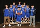 Taylor Tigers Boys Varsity Basketball Winter 17-18 team photo.