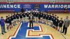 Eminence Warriors Boys Varsity Basketball Winter 17-18 team photo.