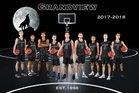 Grandview Wolves Boys Varsity Basketball Winter 17-18 team photo.