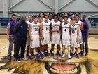 Cushing Bearkats Boys Varsity Basketball Winter 17-18 team photo.