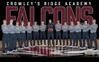 Crowley's Ridge Academy Falcons Boys Varsity Basketball Winter 17-18 team photo.
