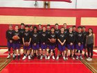 Hunter College Hawks Boys Varsity Basketball Winter 17-18 team photo.