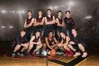 Castle View Sabercats Boys Varsity Basketball Winter 17-18 team photo.