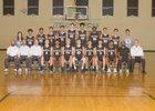 Volcano Vista Hawks Boys Varsity Basketball Winter 17-18 team photo.