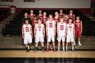 Dora Coyotes Boys Varsity Basketball Winter 17-18 team photo.