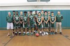 Pensacola Catholic Crusaders Boys Varsity Basketball Winter 17-18 team photo.