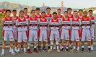 Washington Eagles Boys Varsity Basketball Winter 17-18 team photo.