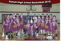 Ramah Mustangs Boys Varsity Basketball Winter 17-18 team photo.