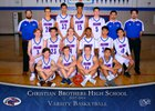 Christian Brothers Falcons Boys Varsity Basketball Winter 17-18 team photo.