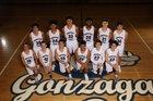 Gonzaga Prep Bullpups Boys Varsity Basketball Winter 17-18 team photo.