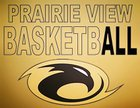 Prairie View Thunderhawks Boys Varsity Basketball Winter 17-18 team photo.