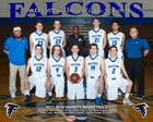 South Whidbey Falcons Boys Varsity Basketball Winter 17-18 team photo.