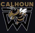Calhoun Yellowjackets Boys Varsity Basketball Winter 17-18 team photo.