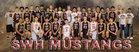 Southwestern Heights Mustangs Boys Varsity Basketball Winter 17-18 team photo.