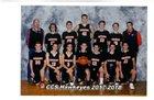 Cooperstown Hawkeyes Boys Varsity Basketball Winter 17-18 team photo.