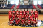 Marion Patriots Boys Varsity Basketball Winter 17-18 team photo.