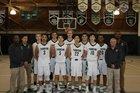Charles Wright Tarriers Boys Varsity Basketball Winter 17-18 team photo.