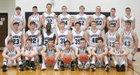 Elmwood-Murdock Knights Boys Varsity Basketball Winter 17-18 team photo.