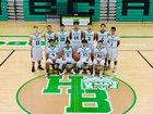 Hagerman Bobcats Boys Varsity Basketball Winter 17-18 team photo.