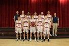 Providence Hall Patriots Boys Varsity Basketball Winter 17-18 team photo.