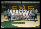 Evergreen Plainsmen Boys Varsity Basketball Winter 17-18 team photo.