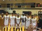 Crockett Cougars Boys Varsity Basketball Winter 17-18 team photo.