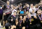 Roman Catholic Cahillite Boys Varsity Basketball Winter 17-18 team photo.