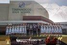 Timpanogos Timberwolves Boys Varsity Basketball Winter 17-18 team photo.