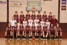 Gentry Pioneers Boys Varsity Basketball Winter 17-18 team photo.