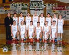 Gridley Bulldogs Boys Varsity Basketball Winter 17-18 team photo.