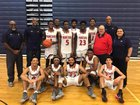 Poinciana Eagles Boys Varsity Basketball Winter 17-18 team photo.
