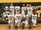 Emerson Pirates Boys Varsity Basketball Winter 17-18 team photo.