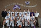 Arvada West Wildcats Boys Varsity Basketball Winter 17-18 team photo.