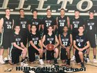 Hilltop Lancers Boys Varsity Basketball Winter 17-18 team photo.