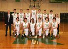 Richland Bombers Boys Varsity Basketball Winter 17-18 team photo.