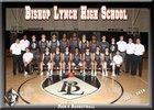Bishop Lynch Friars Boys Varsity Basketball Winter 17-18 team photo.